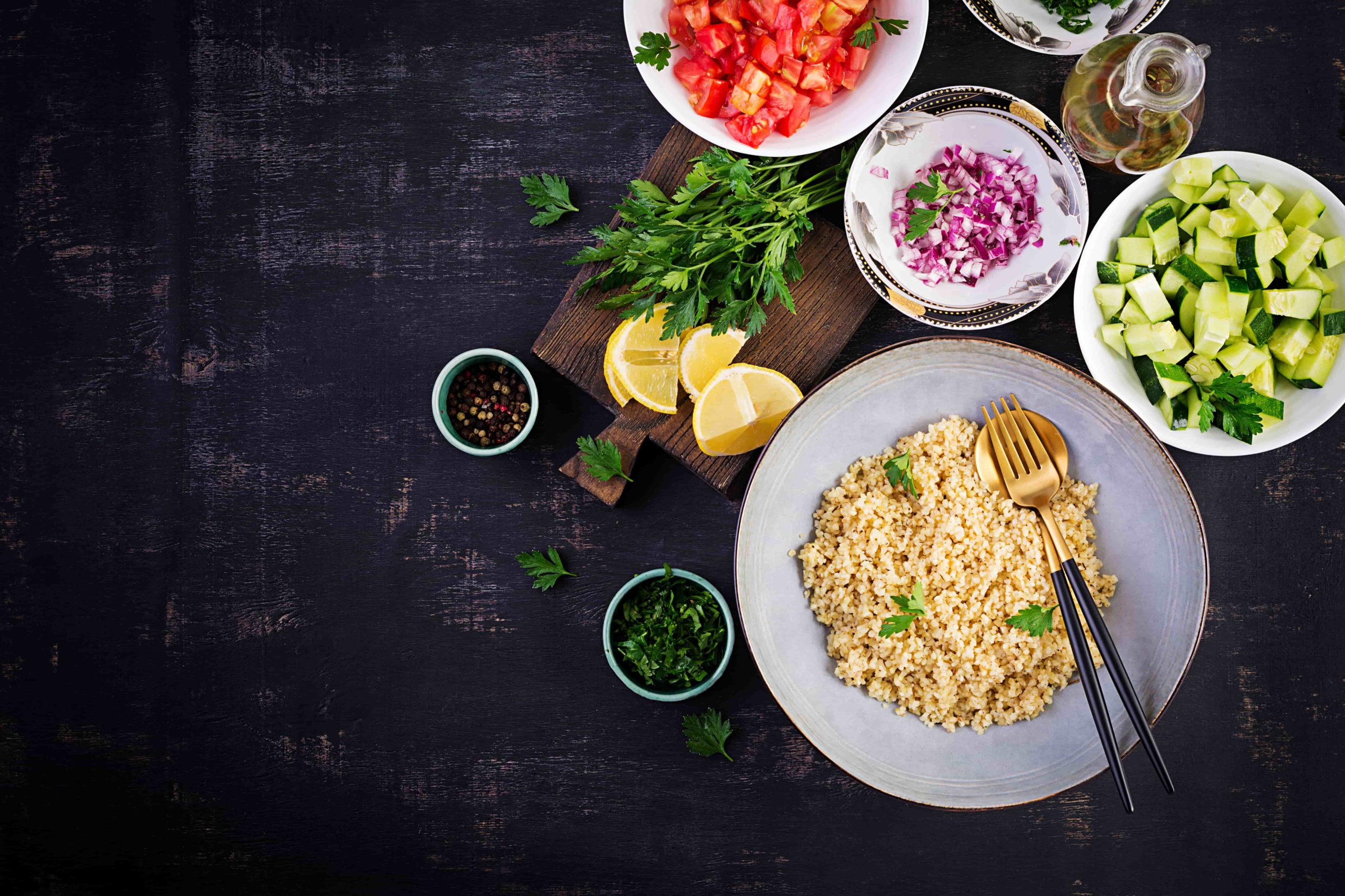 Салат Табуле - рецепт с пошаговым приготовлением и фото