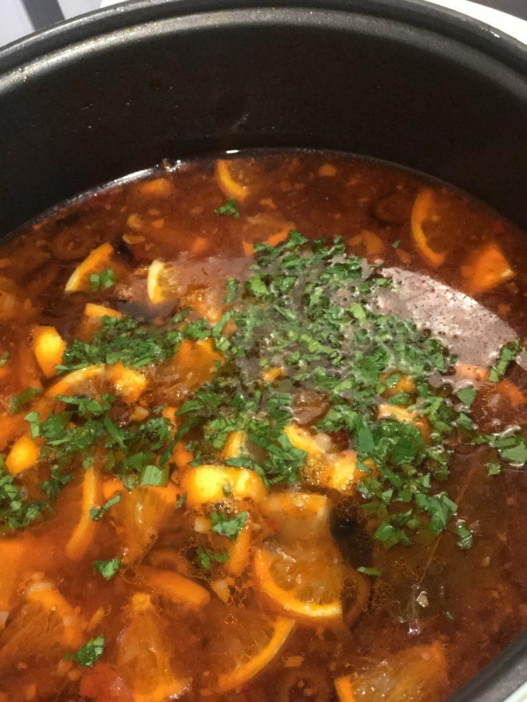 Суп солянка «краски осени»