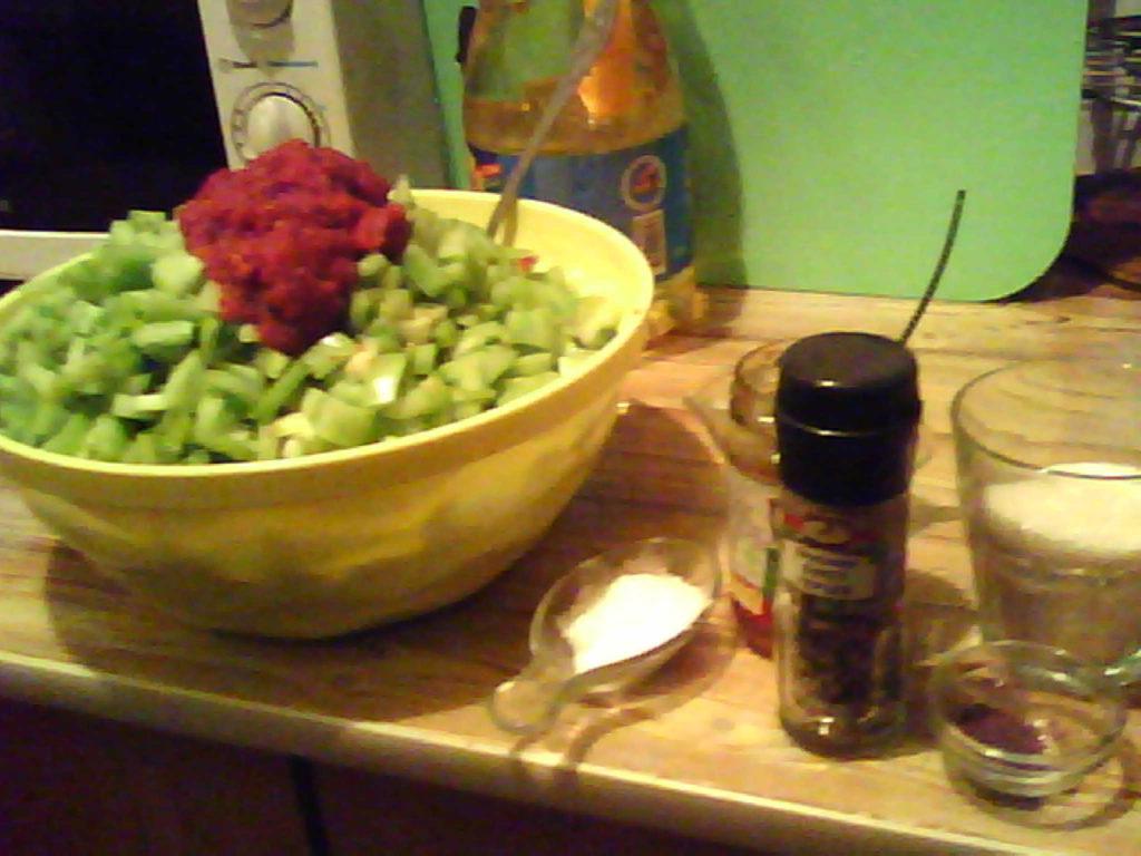 Салатик с зелёных помидор